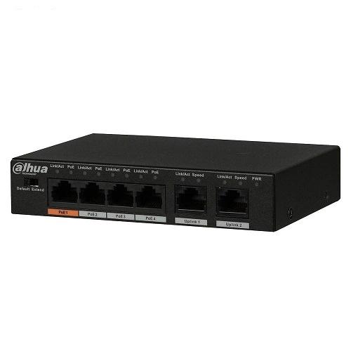 سوییچ شبکه 4 پورت داهوا مدل PFS3006-4ET-60