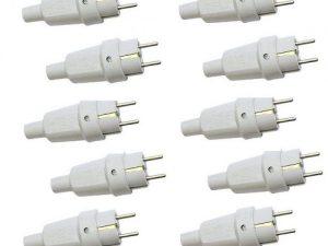 دوشاخه برق 16 آمپر پارت الکتریک مدل 972 بسته 10 عددی