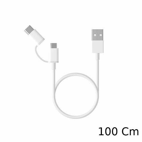 کابل تبدیل USB به microUSB/USB-C شیائومی مدل Note طول 1 متر