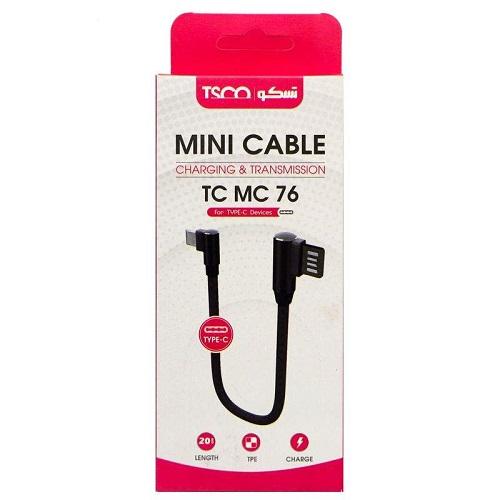 کابل تبدیل USB به USB-C تسکو مدل TC MC76 طول0.2 متر
