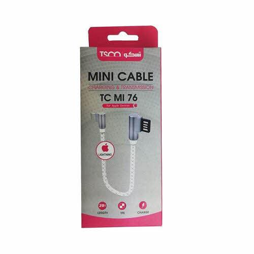 کابل تبدیل USB به لایتنینگ تسکو مدل TC MI76 طول 0.2 متر